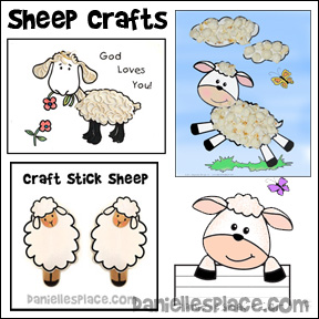 Sheep Crafts and Activities for Children from www.daniellesplace.com