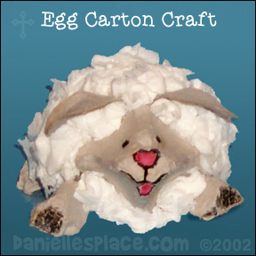 Egg Carton Sheep Craft from www.daniellesplace.com Copyright 2002