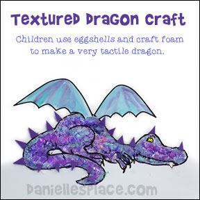 Textured Dragon Craft from www.daniellesplace.com