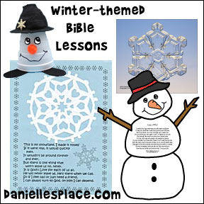 Winter-themed Sunday School Lessons from www.daniellesplace.com