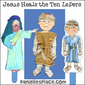 Jesus Heals the Ten Lepers Free Bible Lesson for Children from www.daniellesplace.com