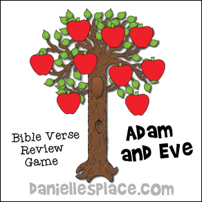 Apple Bible Verse Review Game for Adam and Eve Sunday School Lesson from www.daniellesplace.com