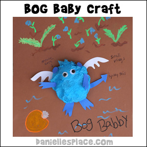 Bog Baby Tissue Paper Craft from Danielle's Place of Crafts and Activities