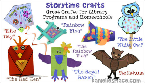 Storytime Crafts for Children - Great for Library Programs and Homeschools from www.daniellesplace.com