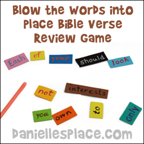 Straw and Craft Foam Bible Verse Review Game for Children's Ministry or Sunday School from www.daniellesplace.com