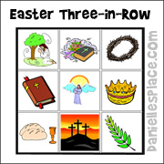 Easter Three-in-a-Row Game for Children's Ministry