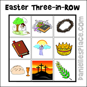 Easter Three-in-a-Row Game for Children's Ministry and Sunday School