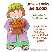 Jesus Feeds the five thousand Bible Craft for Children's Ministry from www.daniellesplace.com