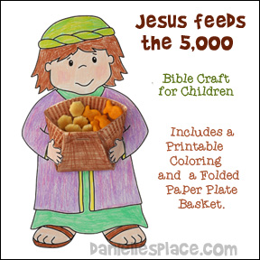 Jesus Feed The Five Thousand Bible Craft For Sunday School
