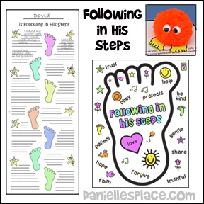 Following in Jesus Footsteps Bible Lessons for Children from www.daniellesplace.com
