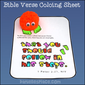Bible Verse Bible Coloring Sheet For Sunday School from www.daniellesplace.com