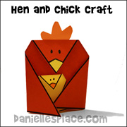 Hen and Chick Folded Paper Craft