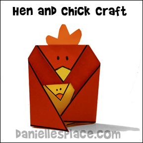 Hen and Chick Craft from www.daniellesplace.com