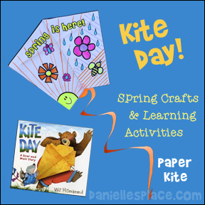 Kite Day! Paper Kite Craft for Children from www.daniellesplace.com