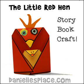 The Little Red Hen Craft for Children from www.daniellesplace.com