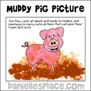 muddy pig picture