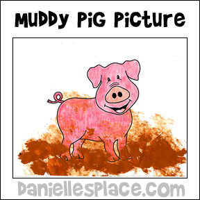 Muddy Pig Coloring and Activity Sheet