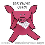 Pig Holding Bible Verse Craft