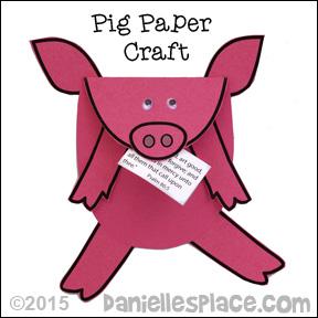 Pig Paper Craft Pattern