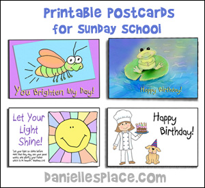 postcard crafts for sundayschool from www.daniellesplace.com