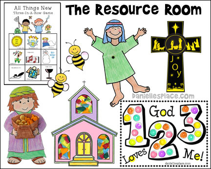 The Resource Room where you will find thousand of Bible Crafts and Learning Activities for Sunday School and Homeschool.