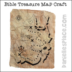 Treasure Map Craft and Activity for Sunday School from www.daniellesplace.com