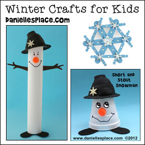 Winter Crafts for Kids from www.daniellesplace.com