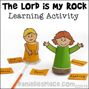 """Wise and Foolish Builders"" - Standing on the Rock Learning Activity - Use this activity to reinforce the concept that Jesus is our Rock."