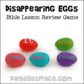 """Disappearing Egg"" Bible Verse Review Game from www.daniellesplace.com"