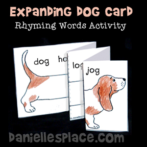 Expanding Dog Picture Rhyming Words Learning Activity from www.daniellesplace.com