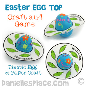 Easter Egg Top Game and Craft for Children's Ministry from www.daniellesplace.com ©