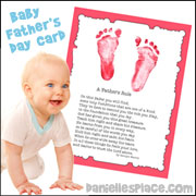 Baby Foot Print Picture with Poem for Dad