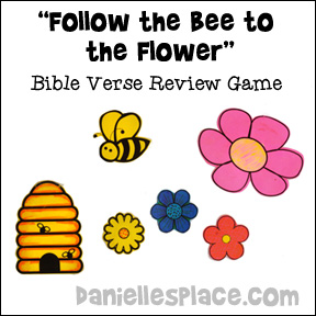 Follow the Bee to the Flower Bible Game from www.daniellesplace.com