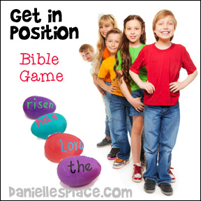 """Get in Position"" Bible Verse Review Game for Children's Ministry from www.danielllesplace.com"