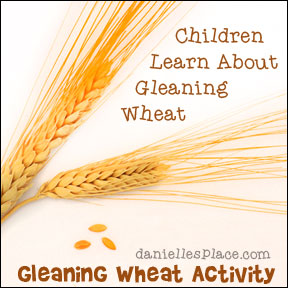 Gideon Bible Lesson - Children learn about Threshing and Winnowing from www.daniellesplace.com