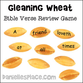 Gleaning Wheat Bible Verse Review Game for Ruth and Naomi Bible Lesson on www.daniellesplace.com