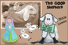 """The Good Shepherd"" Free Bible Lesson for Children's Church and Children's Ministry from www.daniellesplace.com"