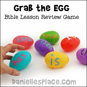 """Grab the Egg"" Bible Lesson Review Game from www.daniellesplace.com"