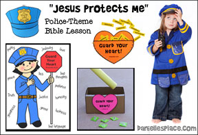 """Jesus Protects Me"" Police-themed Bible Lesson for Children's Ministry from www.daniellesplace.com"