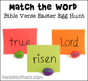 """Matching Words"" Bible Verse Easter Egg Hunt"