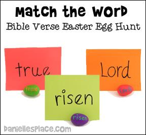 matching words bible verse easter egg hunt