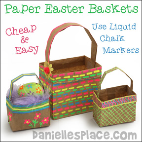 Easter crafts for kids paper lunch bag easter baskets negle
