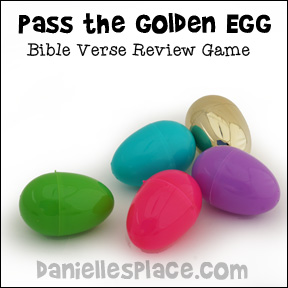 Pass the Golden Egg Bible Lesson Review Game from www.daniellesplace.com