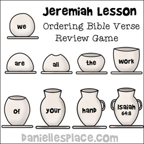 Jeremiah Ordering Bible Verse Review Game