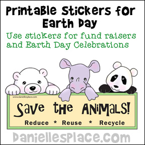 Save the Earth Printable Earth Day Stickers from www.daniellesplace.com