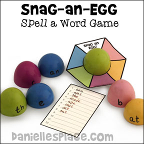 Snag-an-Egg Spelling Word Game - Educational Game from www.daniellesplace.com