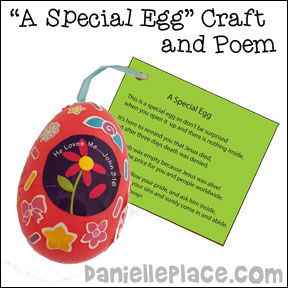 Empty Easter Egg Bible Craft from www.daniellesplace.com