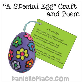 Special Easter Egg Bible Craft for Children from www.daniellesplace.com