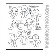 Recipe for Happiness Beatitudes Coloring Sheet for Children's Ministry from www.daniellesplace.com