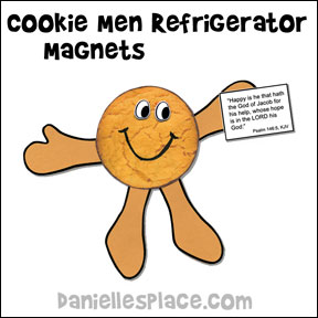 Cookie Man Refrigerator Magnet Craft for Beatitudes Sunday School Lesson from www.daniellesplace.com